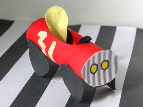 Toilet Paper Roll Race Car Craft for Toddlers and ...